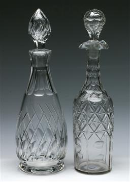 Sale 9168 - Lot 424 - A Stuart crystal decanter (H:32.5cm) together with another (H:32cm)