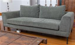 Sale 9191H - Lot 31 - King Living 2.5 seater modular fabric lounge in olive tone, L 220 x D 95 cm