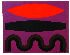 Sale 3811 - Lot 78 - JOHN COBURN (1925-) - Red and Black signed lower right: Coburn