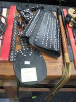 Sale 7926A - Lot 1729 - Leather accessories made by slave Anton including large paddle and collar