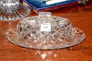 Sale 8015A - Lot 60 - A vintage hand cut lead crystal oval cheese dish