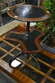 Sale 8087 - Lot 1024 - Tiered Timber Circular Lamp Table on Tripod Base