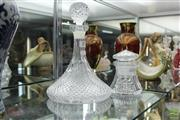 Sale 8226 - Lot 30 - Cut Crystal Decanter & Lidded Jar