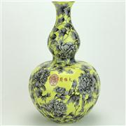 Sale 8413 - Lot 43 - Dan Se Double Gourd Chrysanthemum Vase