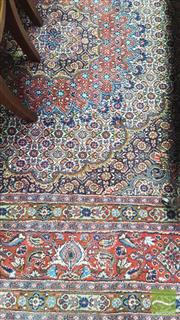 Sale 8402 - Lot 1013 - Persian Senneh Style Wool Carpet with Medallion and all over Floral Pattern (223 x 228cm)
