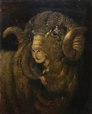 Sale 8475 - Lot 595 - Artist Unknown (XIX - XX) - Ram, 1922 44.5 x 36cm