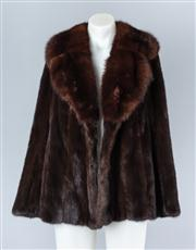 Sale 8828F - Lot 7 - A Black Diamond Mink Jacket With Russian Sable Collar By Revillon, Size Medium/Large