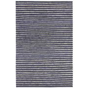 Sale 8860C - Lot 36 - An India Rustic Jute/Wool Ribbed Carpet in Navy, in Handspun Jute & Wool 160x230cm