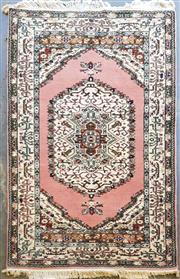 Sale 8996 - Lot 1058 - Turkish Made Isparta Wool On Cotton Pink & Cream Tone Carpet With Central Medallion - Proof Of Purchase Certificate in Office (220 x...