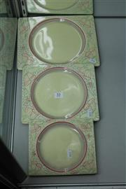 Sale 8086 - Lot 53 - Clarice Cliff Biarritz Graduated Three Piece Plate Setting