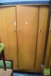 Sale 8287 - Lot 1082 - Vanson Teak Three Door Wardrobe