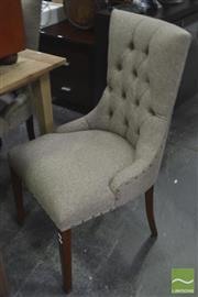 Sale 8326 - Lot 1201 - Set of 6 Fabric Clad Dining Chairs