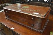 Sale 8345 - Lot 1066 - Victorian Walnut J & P Coats Display Sewing Box, with two drawers & printed logos  & trade mark