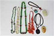 Sale 8422 - Lot 65 - Coral Necklace with Other Jewellery incl Persian Scent Bottle