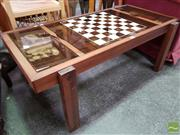 Sale 8465 - Lot 1094 - Coffee Table with Chess Board and Pieces