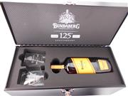Sale 8514 - Lot 1744 - 1x Bundaberg 4YO Select Vat 315 Double Aged Rum - limited edition metal tool box pack incl 1x 700ml bottle and 2x glass tumblers