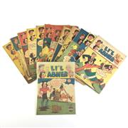 Sale 8793 - Lot 91 - Lil Abner American Comics Nos: 2, 7, 8, 10 - 19. 1949-1952, printed in Australia (13)