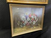 Sale 8978 - Lot 2014 - Joan Vears, Petunias, pastel on paper, 52 x 68 cm, signed lower right