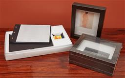 Sale 9108H - Lot 92 - A small group of photo frames together with an album.