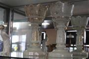 Sale 7982 - Lot 2 - Pair of Victorian Glass Lustre without Drops