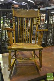 Sale 8307 - Lot 1017 - Spindleback Rocking Chair