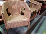 Sale 8550 - Lot 1439 - Pair of Cane Armchairs