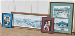 Sale 9108H - Lot 97 - A group of four pictures pertaining to Hong Kong, various sizes.