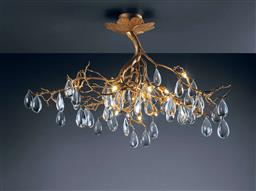 Sale 9140W - Lot 37 - A Serip Fascinium twelve light small tree chandelier in tone with clear crystals . 110cm D x 60cm H  weight 13kg RRP. $16,897  S...