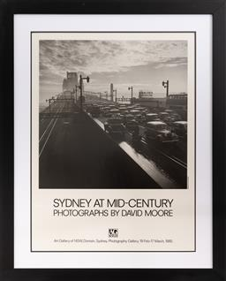 Sale 9260M - Lot 98 - A framed photographic poster by David Moore, framed measurements 83cm x 68cm