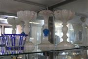 Sale 7982 - Lot 15 - Pair of Victorian Glass Lustres and another plus Glass Bowl