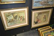 Sale 8203A - Lot 7 - William Russell Flint (1880 - 1969) (2 works) - Spanish Dancers 39 x 53cm & 45 x 61cm