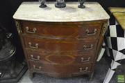 Sale 8361 - Lot 1006 - Marble Top French Style Four Drawer Chest with Ormalu Mounts