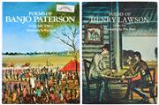 Sale 8392A - Lot 16 - (2 volumes) Poems of Banjo Patterson (volume two): illustrated by Pro Hart & Poems of Henry Lawson (volume two) : illustrated by...