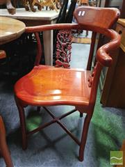 Sale 8447 - Lot 1061 - Set of 3 Chinese Corner Chairs