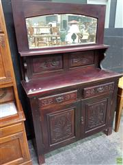 Sale 8562 - Lot 1006 - Timber Mirrored Back Sideboard