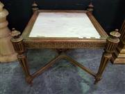 Sale 8657 - Lot 1002 - Gilt Framed Side Table with Marble Top