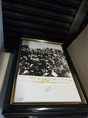 Sale 8659 - Lot 2387 - 6 Framed Les Darcy Boxing Ephemera incl. Picture of his Funeral
