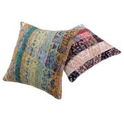 Sale 8761C - Lot 2 - A Pair of Vintage Turkish Kilim Cushions, Wool, 50x50cm, RRP $350