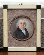 Sale 8838H - Lot 94 - A circular portrait miniature of a gentleman in C18th dress signed E Winkler.