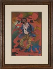 Sale 8850 - Lot 2039 - Sipho Ndebele - Untitled 47.5 x 31.5