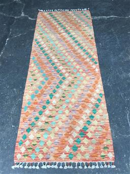 Sale 9137 - Lot 1019 - Hand knotted pure wool Persian kilim runner ( 200 x 73cm)