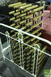 Sale 8499 - Lot 1093 - Two Timber & Metal Wine Racks