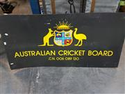 Sale 8563T - Lot 2127 - Cricket Sign & Pair of Crutches