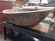 Sale 8863 - Lot 1090 - Large Rustic Carved Timber Bowl