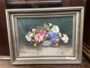 Sale 9091 - Lot 2014 - Artist Unknown Still Life oil on canvas on board 34 x 44cm, signed lower left
