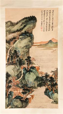 Sale 9107 - Lot 49 - A Chinese Mountain Themed Scroll