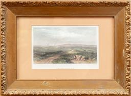 Sale 9120H - Lot 141 - A 19th century print in frame of a view over Botany Bay, after samuel prout, frame size 29cm x 39cm