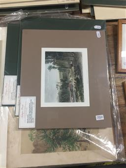 Sale 9130 - Lot 2066 - Group of (5) C19th handcoloured engravings incl. S Prout, S T Gill & N Chevalier (mounted, unframed)