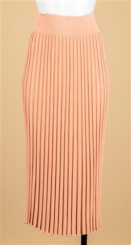Sale 9250F - Lot 39 - A Scanlan Theodore pleated skirt in peach, size S.