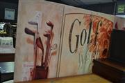 Sale 7987A - Lot 1340 - Golf Themed 4 Panel Screen